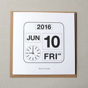 Personalised Calendar Date Card - anniversary cards