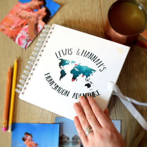 Personalised Honeymoon Adventure Location Scrapbook - photo albums