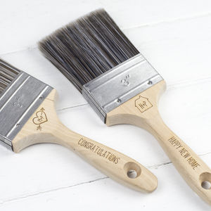 Personalised Decorator's Paintbrush - housewarming gifts