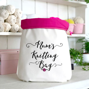 'Mum's Knitting Bag' Knitting Gift For Mothers