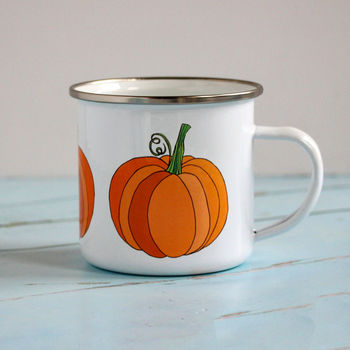 Pumpkin Enamel Mug, Alternative Halloween Gift