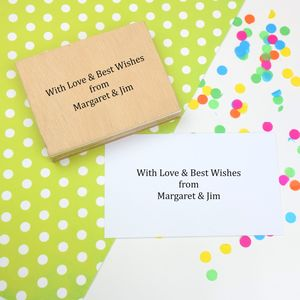 Greeting Or Message Personalised Rubber Stamp - diy & craft