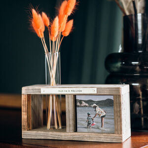 Personalised Photo Block And Stem Vase