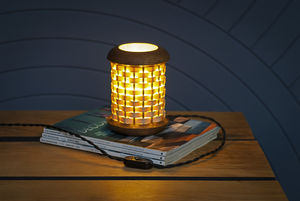 Small Weave Table Lamp - table lamps