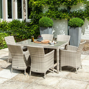 Ocean Rectangular Dining Set In Pearl