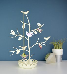Personalised Perched Birds Jewellery Tree - jewellery storage & trinket boxes