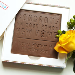 Personalised Congratulations 'New Home' Chocolate Card - novelty chocolates