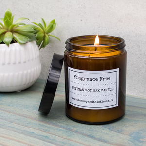 Fragrance Free Pharmacy Jar Soy Candle - candles