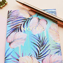 Pastel Powder Palms A6 Notebook With Gold Foiling