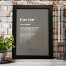Metallic Personalised Favourite Song Print