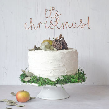 It's Christmas Cake Topper