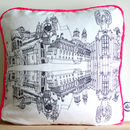 Hand Drawn Paisley Cushion
