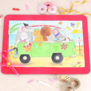 Daisy' Campervan Placemat - kitchen