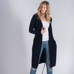 100% Pure Cashmere Robe Style Long Cardigan - lounge & activewear