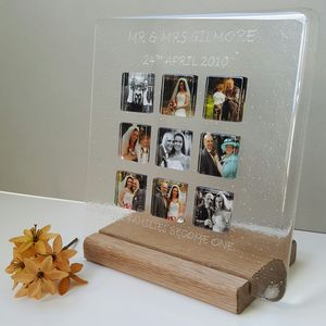 Personalised Wedding Glass Photograph Display Frame - home accessories