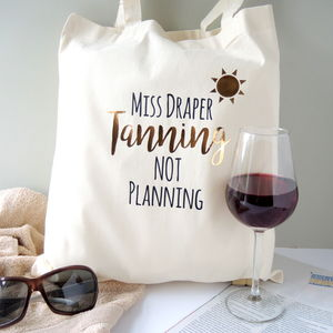 Personalised Teacher Tanning Beach Bag - gifts for teachers