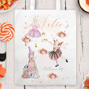 Personalised Halloween Trick Or Treat Bag 'Dress Up' - trick or treat bags
