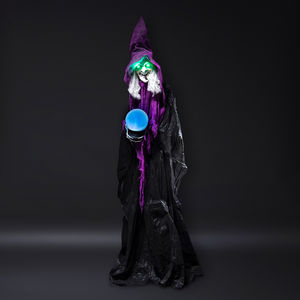 Lifesize Cackling Witch With Crystal Ball - party decorations