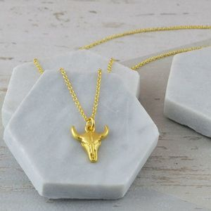 Cow Skull Necklace - new in jewellery