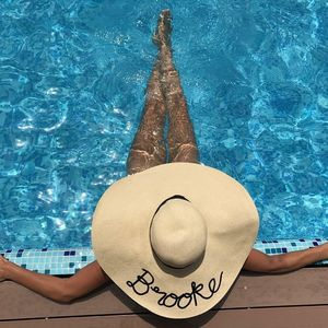 Personalised Bespoke Straw Floppy Hat - 21st birthday gifts