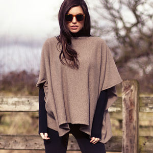 Cashmere And Merino Poncho By Rachel Wears - women's accessories