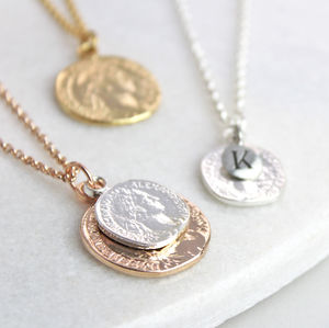 Personalised Coin Necklace - necklaces