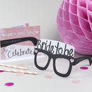 Bride To Be Card Glasses