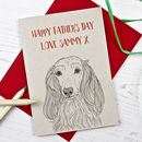 Long Haired Dachshund Father's Day Card