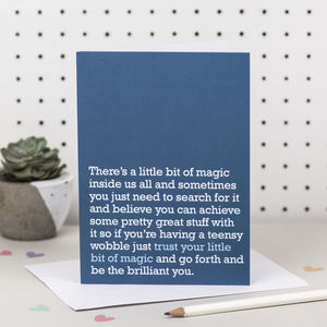 'Trust Your Little Bit Of Magic' Good Luck Card - good luck cards