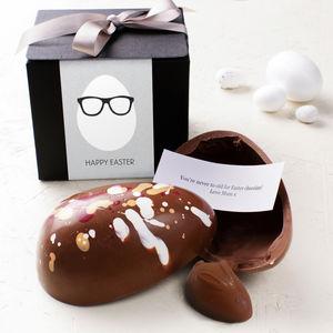 Egg Head Personalised Chocolate Easter Egg - easter eggs