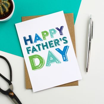 Happy Father's Day Typographic Greeting Card