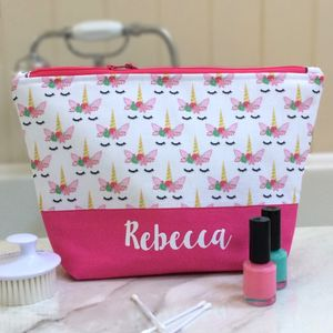 Unicorn Personalised Wash Bag