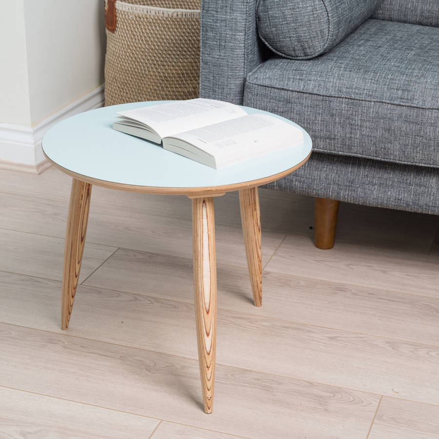 Round Mid Century Style Side Table By Liga