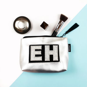 Personalised Silver Makeup Bag - gifts for her
