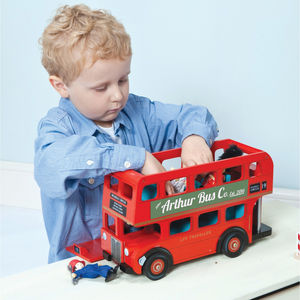 Personalised Wooden London Bus - gifts for children
