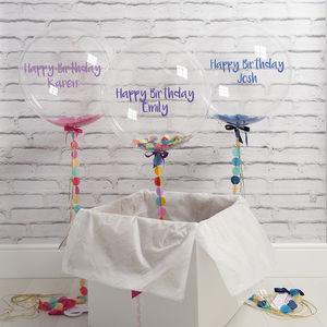 Personalised Birthday Confetti Filled Balloon - 16th birthday gifts