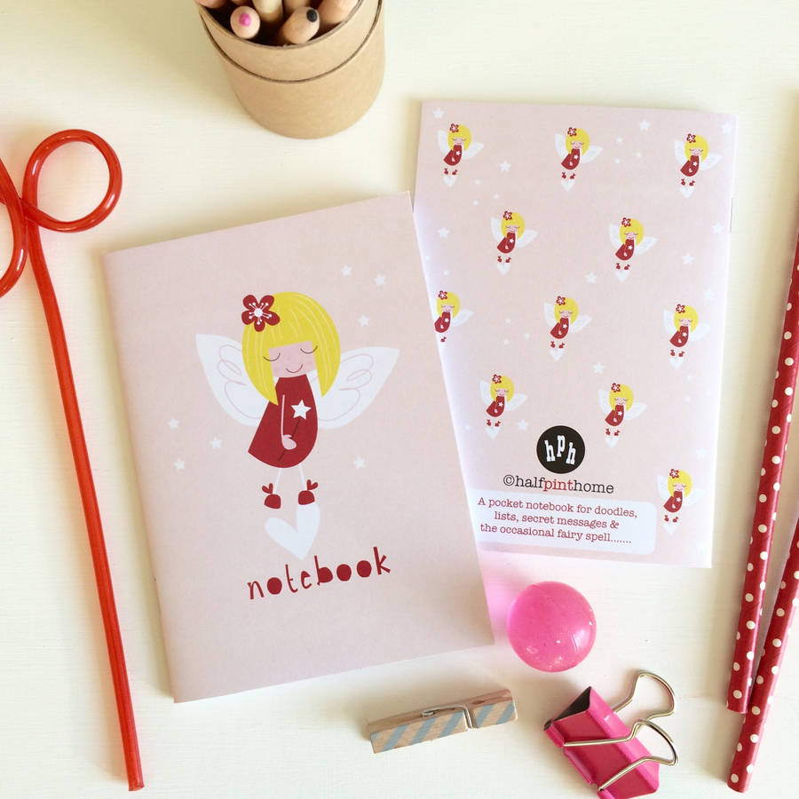 Fairy Notebook Party Bag Filler Or Stocking Filler