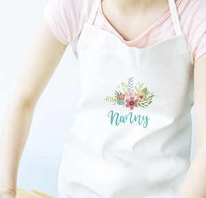 Personalised Floral Nans / Grandmas Apron - kitchen accessories