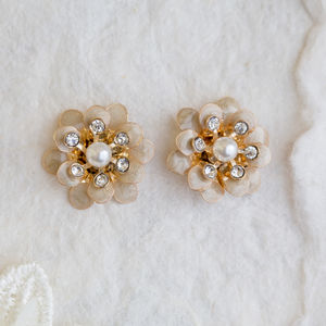 Emily Flower Earrings - earrings