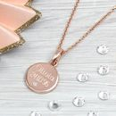Rose Gold And Genuine Diamond Personalised Pendant