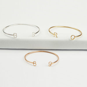 Personalised Initial Wire Bracelet - personalised jewellery