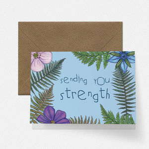 Fern And Wildflower Empathy Card