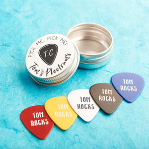 Personalised Guitar Plectrums - best gifts for fathers