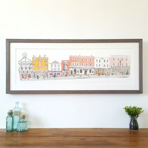 Guildford Lower High Street Limited Edition Print - canvas prints & art