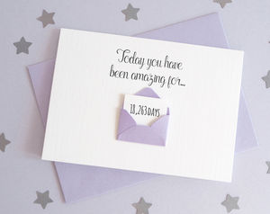 Personalised Envelope Days You've Been Amazing Card