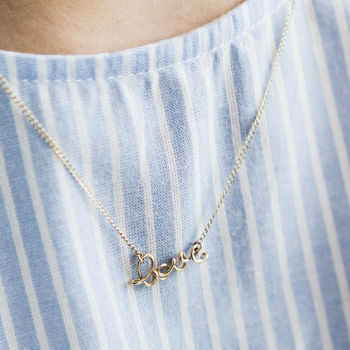 'Love' 14 K Gold Filled Necklace