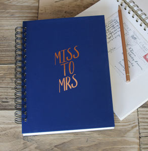 Bespoke Wording Foiled Memory Book - notebooks & journals