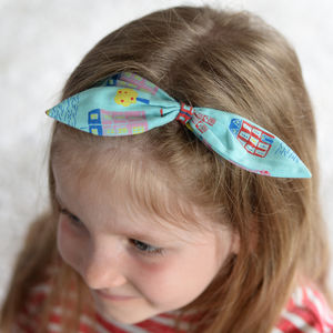 Headband London Print - hair accessories