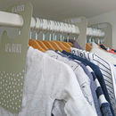 Children's Wardrobe Clothing Dividers | Grey