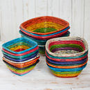 Recycled Newspaper Square Bowls